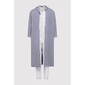 Jabador faris uomini's tre pezzi co-ord pantaloni top e giacca in sintonetta in grigio