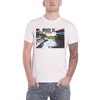 Husker Du T Shirt Zen Arcade Album cover Band Logo new Official Mens White