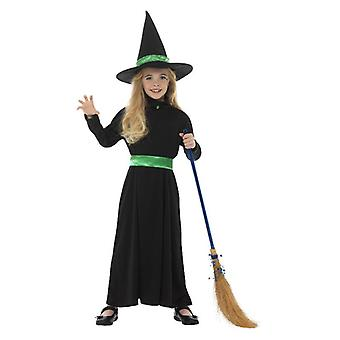 Girls Childrens Wicked Witch Halloween Fancy Dress Costume