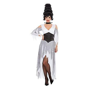 Womens Halloween Gothic Braut Kostüm