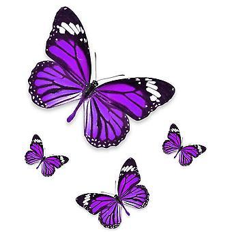 Set 4X Sticker Sticker Macbook Laptop Motorcycle Purple Butterfly Car