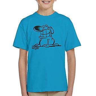 Grimmy Sat Down Kid's T-Shirt