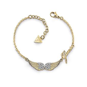Guess Jewellery Double Pave Wings Gold Bracelet UBB29084-L