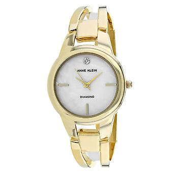 Anne Klein Women's Classic Mother of Pearl Dial Watch - AK-2710BMGB