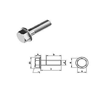 M6 X 20 Mm Hexagon Head Bolt With Flange (no Serration) Din 6951 - T304 (a2) Acier inoxydable