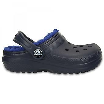 Crocs 203506 Классический выстроились Дети Теплый выстроились Clogs военно-морского флота / cerulean Синий