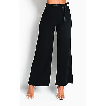 IKRUSH Womens Emily Straight Leg Tie Trousers