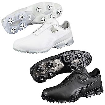 Puma Golf Mens TitanTour Ignite Disc Leather Waterproof Golf Shoes