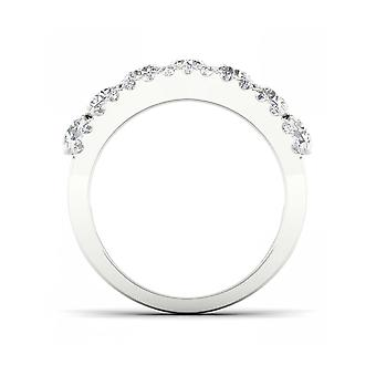 Igi gecertificeerd decouer 2ct tdw diamant 14kwhite gouden trouwring (h-i, i2)