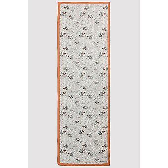 Premium crepe scarf in salmon & green print