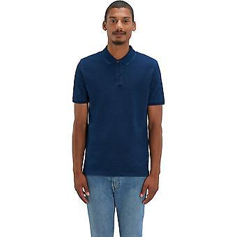 greenT Mens Organic Cotton Dedicator Denim Casual Polo Shirt