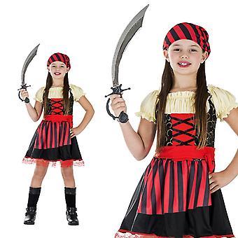 Chicos de aventura pirata Seeräuberin traje traje de pirata de niña