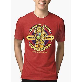 Melange de manches moitié collector en pierre t-shirt
