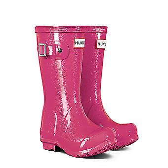 Hunter Original Kids glitter Wellies-Mosse roze