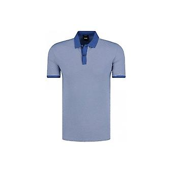 Hugo Boss Parlay 26 Short Sleeve Cotton Blue Polo Shirt