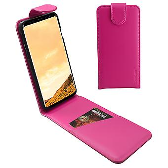 For Samsung Galaxy S8 Case,iCL Vertical Flip Genuine Leather Cover,Magenta