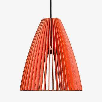 Iumi Teia Large Cone Shaped Birch Plywood Pendant Lamp - Red