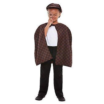 Detektiv kit barn brun
