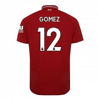 2018-2019年リバプールのホーム サッカー シャツ (ゴメス 12)