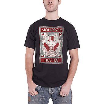 Monopoly T-paita Hustle Vintage logo uusi virallinen Hasbro miesten musta