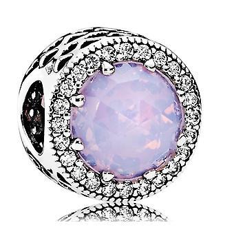 Pandora opalen roze stralend hart charme - 791725NOP