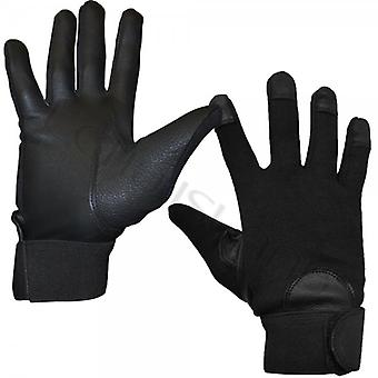 52_DNM Mens And Womens Semi Leather Velcro Fastened Gloves
