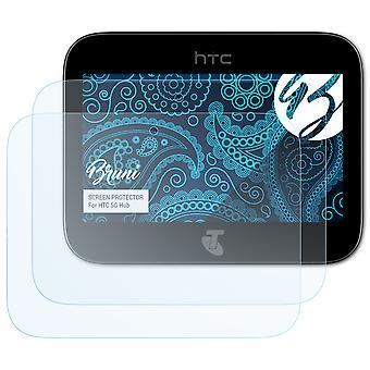 بروني 2x شاشة حامي متوافق مع HTC 5G محور فيلم واقية