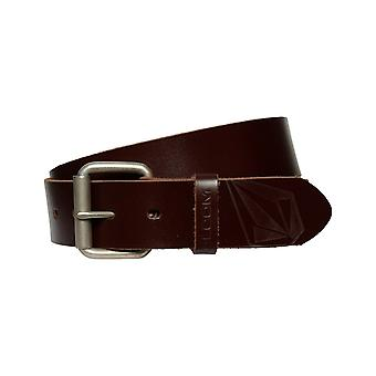 Volcom Straight Leather Belt in Brown
