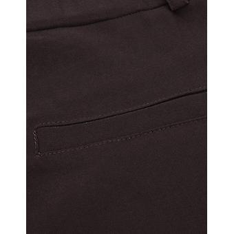 Anggrek Pantaloni Rochie pentru femei Elastic Talie Pull-on, Maro, Dimensiune Mici