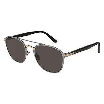 Cartier Décor CT0012S 001 Gold/Grey Sunglasses