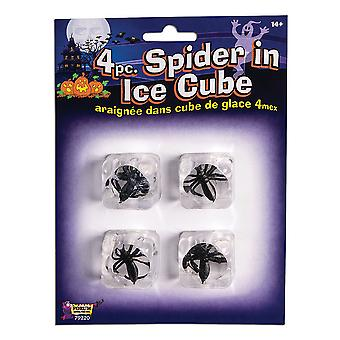 Bristol Novelty Spiders In Ice Cubes (Set Of 4)