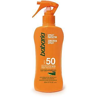 Babaria Protetor solar Aloe Spray F50 200 ml