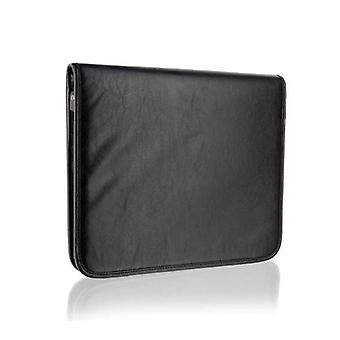 Black A4 Zip Around Folio