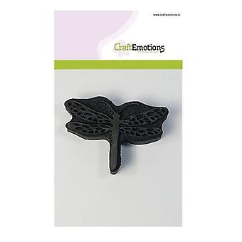CraftEmotions Foam stamp dragonfly 85mm x 60mm