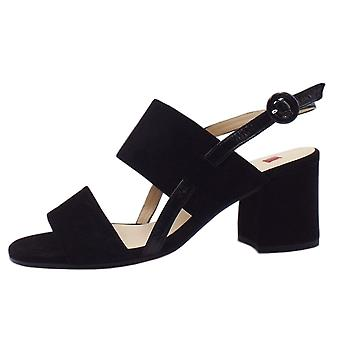 Högl 7-10 5542 Painty Chic Sandals In Black Suede