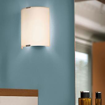 Eglo Grafik satinado cristal y acero lámpara de pared pequeño
