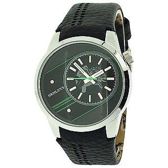 Henley Gents Analogue Black & Green Dial With Black & Green Croc Strap Watch