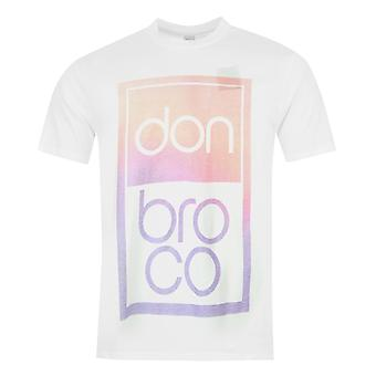 Official Mens Broco T Shirt Print Cotton Summer Casual Short Sleeve Crew Neck