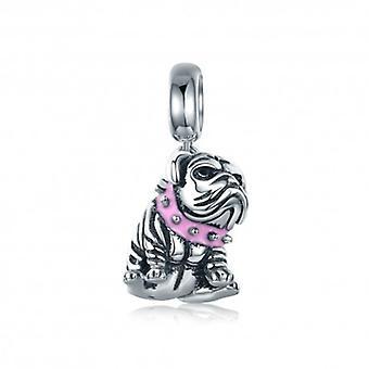 Sterling Silver Pendant Charm Cute English Bulldog - 5515