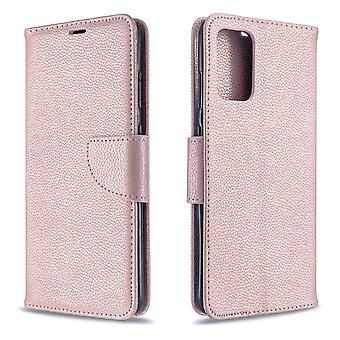 Pour Samsung Galaxy S20 Plus Case, PU Leather Wallet Cover avec Stand et Lanyard, Rose Gold