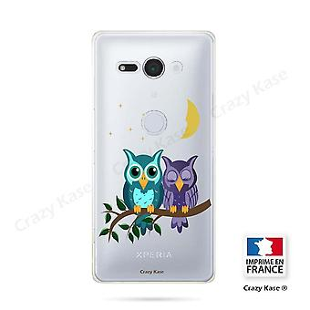 Hull For Sony Xperia Xz2 Compact Soft Pattern Owls In Moonlight