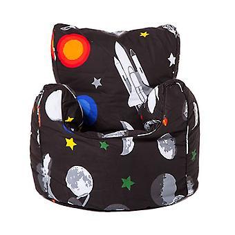 Bereit Steady Bed Kinder Kleinkind Sessel | Bequeme Kindermöbel | WeicheS Kind Safe Seat Spielzimmer Sofa | Ergonomisch gestaltete Bean Bag Stuhl (Galaxy)