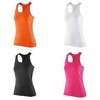 Spiro Womens/Ladies Softex Stretch Fitness Sleeveless Vest Top