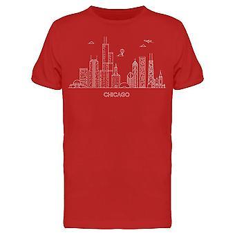 Lineaarinen Chicago Usa Tee Men's -Kuva Shutterstock