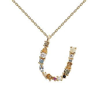 Pdpaola Women-apos;s Lettre U Plated Necklace