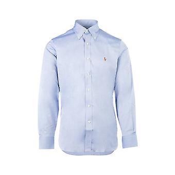 Ralph Lauren 712675619004 Mænd's Lyseblå bomuldsskjorte