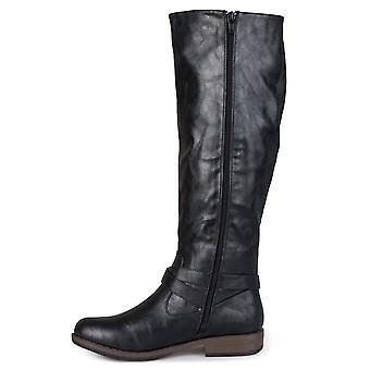 Journee Collection Womens April Almond Toe Knee High Fashion Boots
