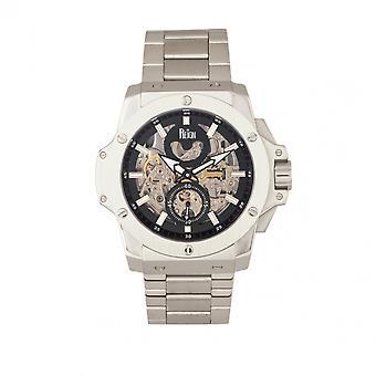 Reign Commodus Automatic Skeleton Bracelet Watch - Silver/Black