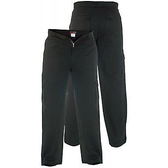 Duke London Mens Kingsize Cargo Style Hose aus Baumwolle