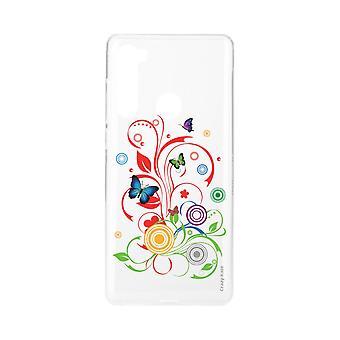 Rumpf für Xiaomi Redmi Note 8 Flexible Schmetterlinge und Kreise
